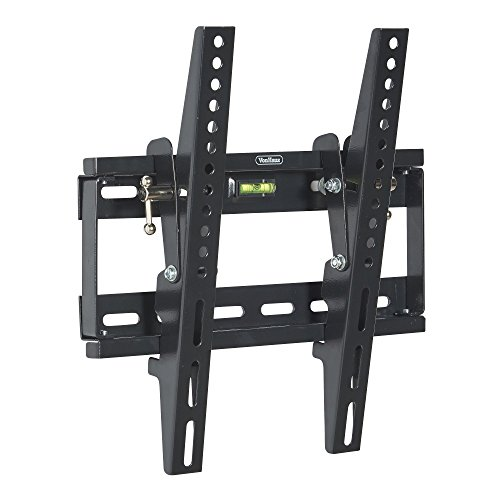 VonHaus 17-37.5' Tilt TV Wall Mount Bracket with Built-In Spirit Level for LED, LCD, 3D, Curved, OLED, Plasma, Flat Screen Televisions - Super Strong 75kg Weight Capacity