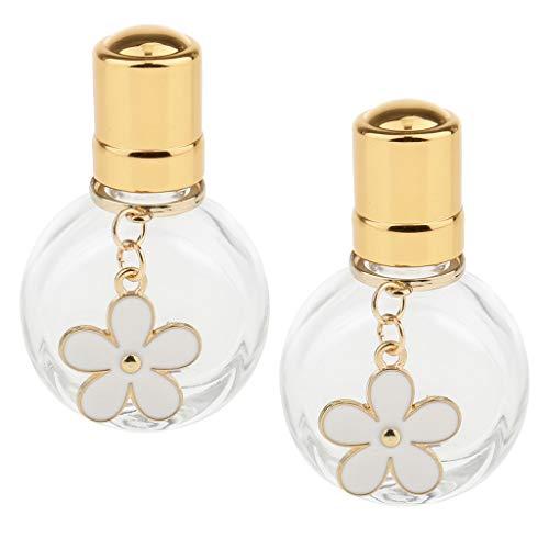 SM SunniMix 2x 10 Ml Flacons Roll-on pour Huile Essentielle, Parfum, Aromathérapie, Cosmétiques Liquide