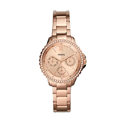 Fossil Women's Izzy Quartz Stainless Multifunction Watch, Color: Rose Gold (Model: ES4782)