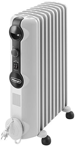 De'Longhi TRRS0920 Radiatore ad Olio Elettrico, 9 elementi, 2000W, 3 livelli di potenza, Bianco