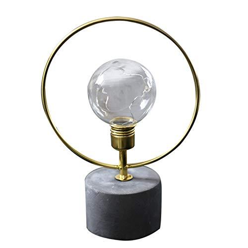 Lámpara de mesa inalámbrica, lámpara de escritorio de oro AAA Cell Battery LED Luces de hierro forjado, para lámpara de mesa decorativa estilo industrial para barra gold
