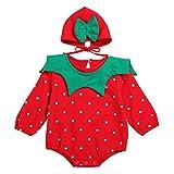 SUMTTER Weihnachten Baby Strampler für Neugeborenes Jungen Mädchen Xmas Cosplay Kostüm Langarm Strampler + Hut Outfits Set