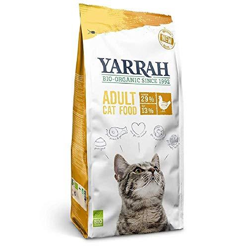 Yarrah Bio Katzenfutter trocken | Hoher Nährstoffanteil | Hochwertiges Premium Trockenfutter für Katzen | Futter für Katzen ab 12 Wochen mit Bio-Huhn, 2,4kg