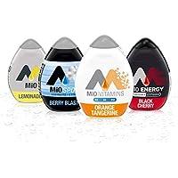 4-Count Mio Liquid Water Enhancer Orange Black Cherry Lemonade Sport Berry Blast Variety Pack