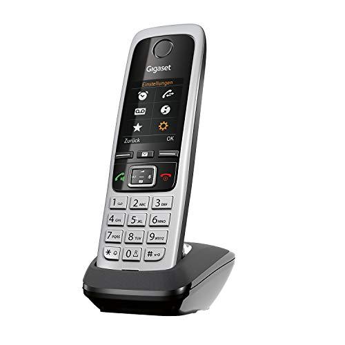 Gigaset C430HX - DECT-Telefon schnurlos für Router - Fritzbox, Speedport kompatibel - 1,8 Zoll Farbdisplay - Direktwahltasten, schwarz-silber