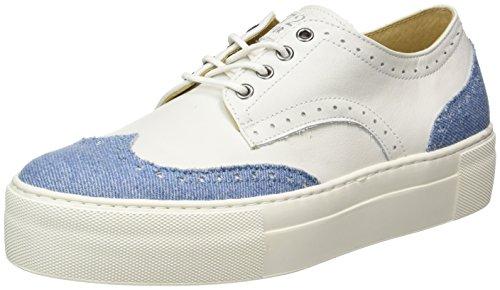Cycleur de Luxe Women's Low-Top Sneakers, Multi Colored Denim White, 14.5