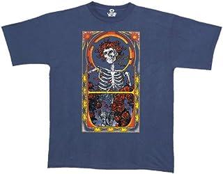 Liquid Blue Men's Grateful Dead Skeleton & Roses Short Sleeve T-Shirt