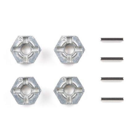 TAMIYA TAM53056 300053056 - Alu Radmitnehmer Sechskant (4), 12 mm