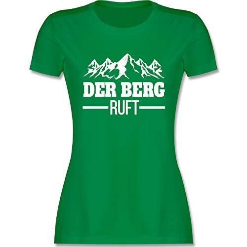 Après Ski - Der Berg Ruft - weiß - S - Grün - Shirt wenn der Berg Ruft - L191 - Tailliertes Tshirt für Damen und Frauen T-Shirt