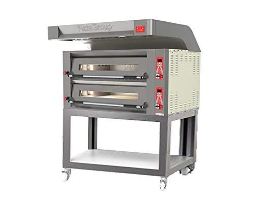 Horno Doble Flame 9+ 9de gas pizzas con Cubierta, carrito y accesorios
