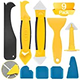 ZOOI 9 Stücke Silikonentferner - Silikon Abzieher Fugenwerkzeug Multifunktional Abdichtung Werkzeug Caulk Dichtmittelelentferner, Caps Sealant, Fugenglätter Set für Badezimmer Küche Badezimmer Boden