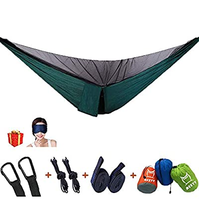 AEETT Camping Hammock with Mosquito Net and Rain Fly Double Hammock for Outdoor Hiking Campin Backpacking Travel