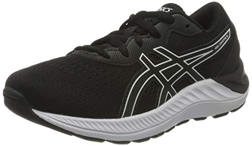 ASICS Gel-Excite 8 GS Road Running Shoe, Black/White, 38 EU