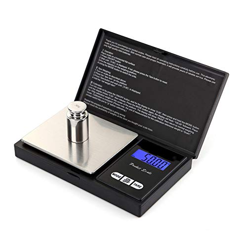 elecfan Digital Pocket Scale, 500g 0.01g Kitchen Scale Jewelry Mini Scale , Portable Travel Food Scale, Jewelry Scale with Back-Lit LCD, Tare ,Stainless Steel - 500g 0.01g