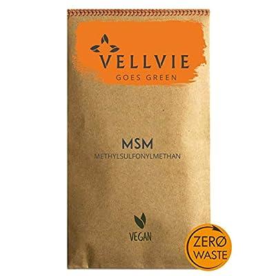 MSM Tabletten Zero Waste von VELLVIE 2000mg pro Tagesdosis mit natürlicher Zusatzkombination | Nachhaltig & Plastikfrei | Kompakter als Kapseln & Vegan | Nachfüllpack