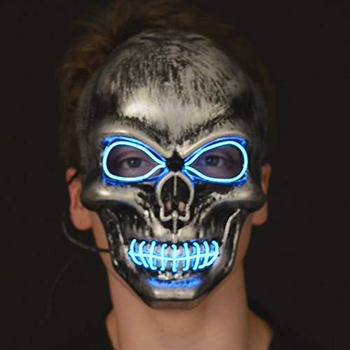 Outfit voor Halloween - Neon masker doodskop Eén maat grijs