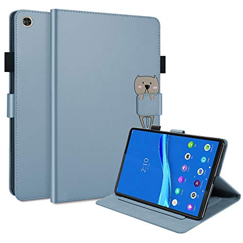 L&Btech Lenovo Tab M10 FHD Plus 10.3 inch Case PU Leather Flip Folio Stand Cover with Card Pocket Multi-Angle Viewing, for Lenovo Tab M10 Plus 10.3'' (2nd Gen) TB-X606F/TB-X606X Tablet - Blue