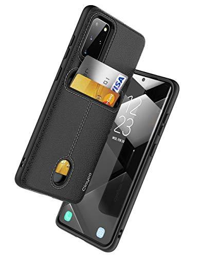 Capa Capinha Case Samsung Galaxy S20+ Plus,Clayco Cache Series, capa carteira projetado para Samsung Galaxy S20+ Plus (2020), com suporte para cartão - Preto
