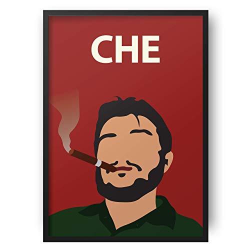Che Guevara Poster / / Wandkunst - Portrait - Retro-Kunst - bunt - minimalistisch - Kuba - Revolution - Sozialismus - Kommunismus - Wohnheim Dekor