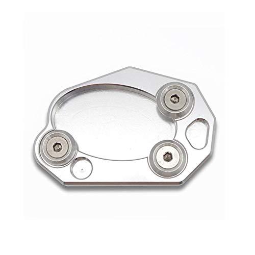 Placa De Soporte De Aluminio para Motocicleta, Soporte Lateral, Almohadilla De Extensión para Ampliar El Pie para Kawasaki Z1000 Z1000SX ZX10R ZX6R ER6N / F Soporte de pie Lateral (Color : Silver)