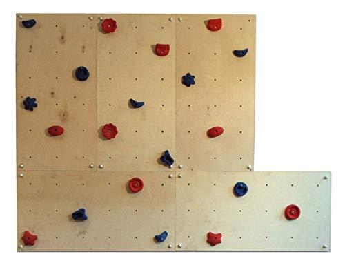 Gartenpirat Indoor-Kletterwand IW5 3,60 m² mit 5X Kletterplatte und 20x Klettersteine