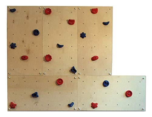 GARTENPIRAT Parete da Arrampicata IW5/OW5 con 5 panelli e 20 Manici Arrampicata 3,60 m