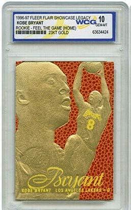 Fleer Kobe Bryant 1996 97 Flair Showcase Limited Editon 23KT Gold WCG GEMMT 10 Rookie Card L product image