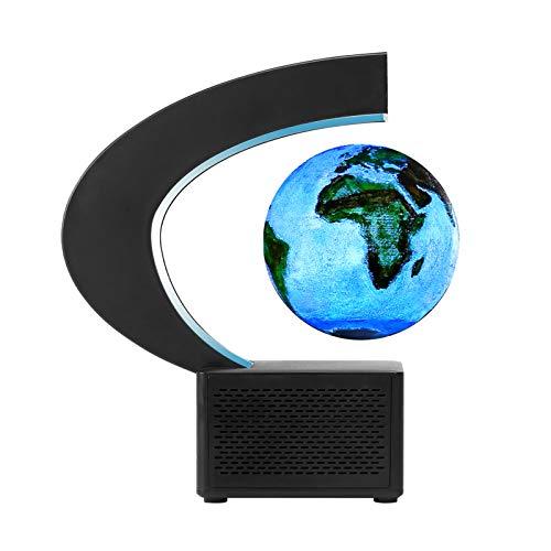 Aibecy Magnetisch Schwebende Mondlampe, BT Lautsprecher 3,5-Zoll-3D-gedruckter Schwebender Globus Mondlicht für Kinder Studenten Erwachsene für Home Office Room Desk Decor