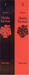 Haida Syntax, 2-volume set (Studies in the Anthropology of North American Indians)