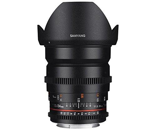 Samyang 24 mm T1.5 ED AS IF UMC - Objetivo para VDSLR Nikon, negro