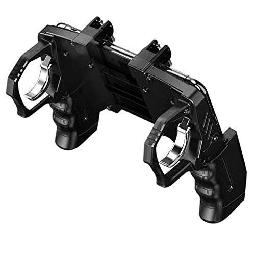 Rehomy Teléfono Móvil Pubg Controlador de Juegos Manejar Empuñadura Disparador Disparador Botón de Disparo para 4-6. Teléfono Móvil de 5 Pulgadas