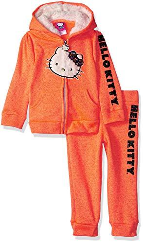 Hello Kitty 2 Piece Hooded Fleece Active Set Pull à Capuche, Corail, 18 Mois Bébé garçon