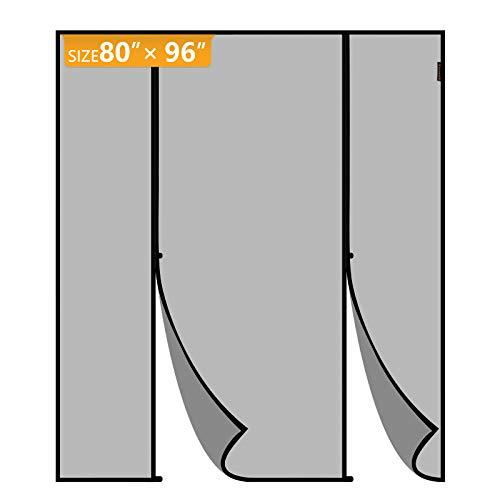 Yotache Magnetic Screen Door Fits Door Size 80 x 96, Wide and Tall Double Door Insect Fly Mesh for Balcony, French, Sliding Glass Door