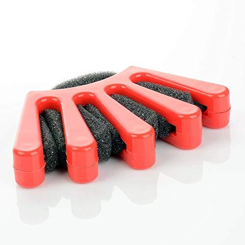 Zopf-Flechter Zopfflechthilfe - Haar-Styling - Rot/Schwarz