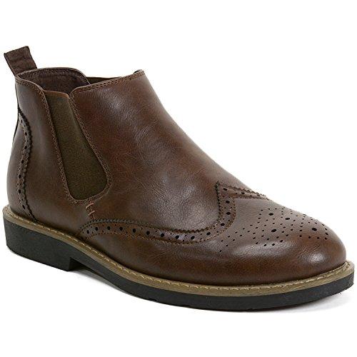 alpine swiss Herren Chelsea Boots, braun, 43 EU