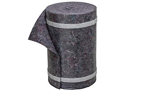 Colorus Treppenvlies 33 cm x 25 m | Abdeckvlies selbsthaftend 230g/m² | Malervlies selbstklebend mit 2 Klebestreifen | Schutzvlies für Treppen | Saugvlies mit rutschfester Folie