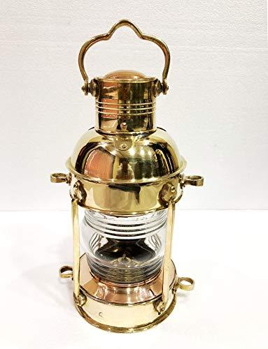 Antique Messing-Leuchtturm-Laterne, Schiff-Lampe, Maritim, nautisch, Wandbehang, Heimdekoration, 38,1 cm
