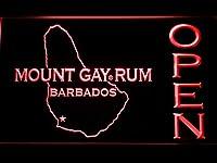Mount Gay Rum Barbados Open LED看板 ネオンサイン ライト 電飾 広告用標識 W30cm x H20cm レッド