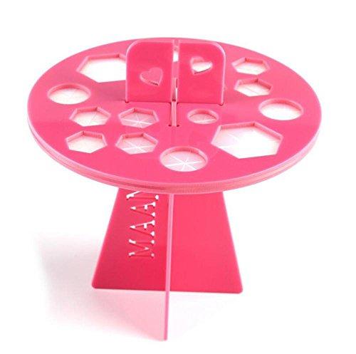 SMX&xh Brosses de maquillage acrylique 16Holes Séchage Rack Noir / Rose / Rouge , Pink