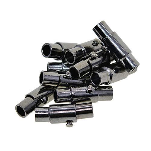 oshhni 10 Sets Mecanismo de Bloqueo Joyas Magnéticas Cierres para Pulseras - Negro, Individual