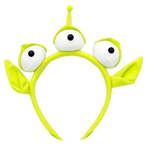 Brownrolly Roman Mooie groene Monster hoofdband Party oogappel haarband zweetband hoofdband Alien pelskostuum hoofdtooi