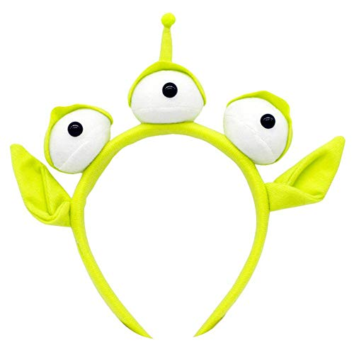 yummyfood Diadema De Alien,Diadema De Monstruo Verde, Diadema De Globo Ocular, Traje De Fiesta Alienígena Peludo Disfraz De Halloween Diadema Diadema Orejas Toy