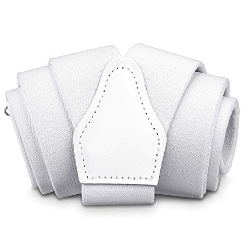Sencillo Herren Hosenträger Weiß mit Starken Clips Y-Form Weißer Hosenträger