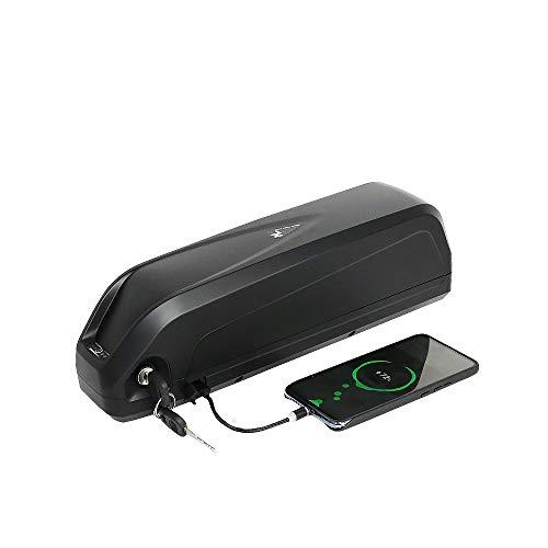 (Almacén de Alemania) Batería de Bicicleta eléctrica de 48V, Batería de E-Bike batería de Iones de Litio para Bicicleta Eléctrica con Cargador, Puerto USB para Motor de 1000w 750w 500w 350w 250w