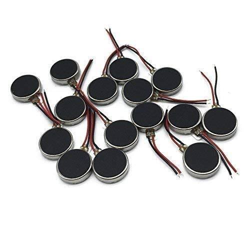 CLJ-LJ 15 mini motores de vibración de 10 x 3 mm, DC 3 V, 12000 rpm, botón plano de moneda, tipo micro CC, motor vibratorio compatible con teléfonos móviles Pager Tablet electrodomésticos