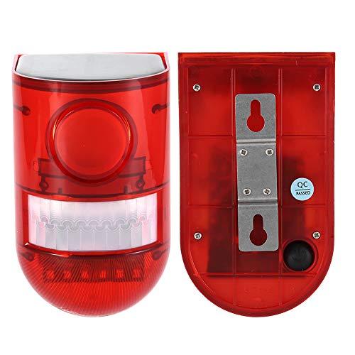 Alarma Solar Luz Red Wireless, Lámpara De Seguridad Del Sensor 110dB 6 LED Motor A Prueba De Agua Lámpara De Seguridad De Jardín Al Aire Libre Para La Seguridad Home Factory Garden Smart Alarma