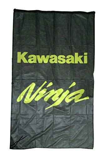 Cyn Flags KAWA-SAKI Ninja SCHWARZ Fahne Flagge VERTIKAL 5 X 3 ft