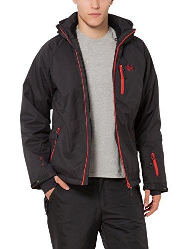 Ultrasport - Everest - Veste d'extérieur alpine fonctionnelle Softshell pour Homme - Noir (Noir/Rouge) - Taille: XL