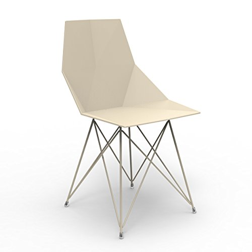 Set 4 Vondom Faz Chair Inox Ecrù