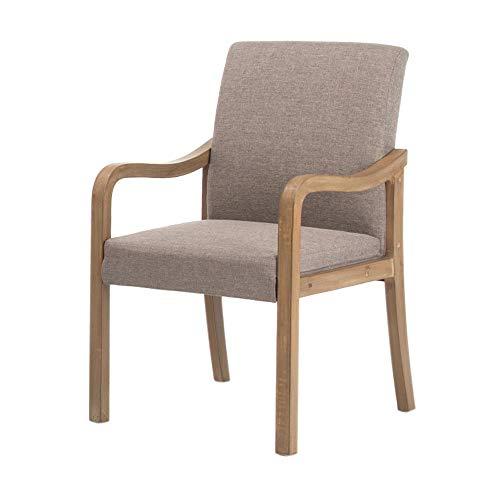 Stoel, thuis van massief hout met rugleuning leuning moderne eetkamerstoel eenvoudige Scandinavische stoel studie lounge stoel hotel restaurant stoel A+ grijs